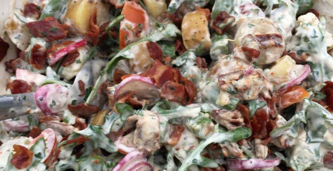 Vabdag och recept på krämig potatissallad