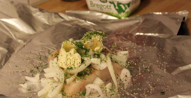 Utvilad och torskpaket i ugn