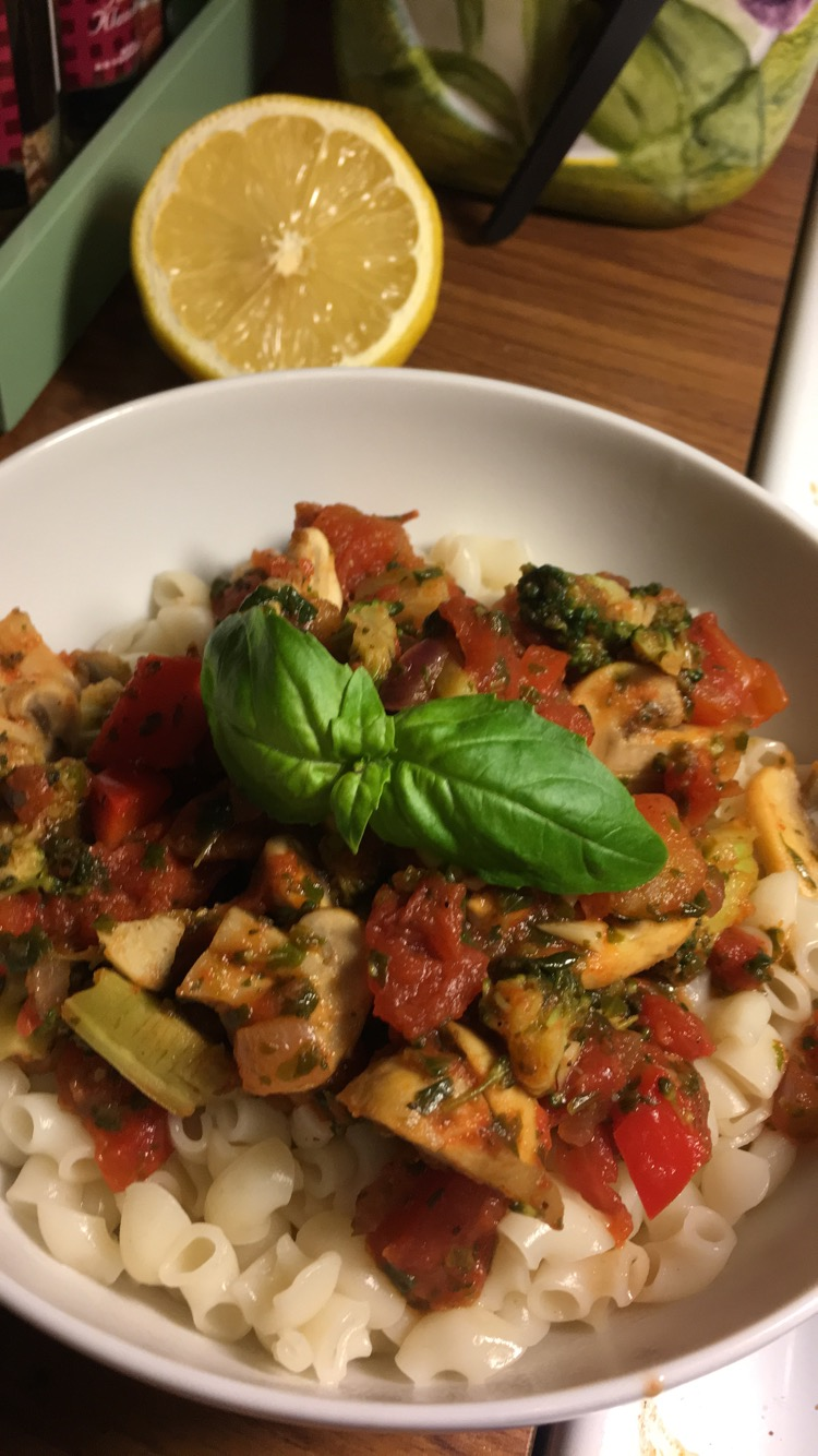 Vegetarisk pastasås och ingen sovmorgon